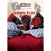 Sherpa Fleece Dog Fibre Bed in Navy
