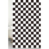 Shower Curtains Peva Chess Board Shower Curtain in Black / White