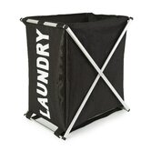 Nylon Laundry Hampers and Bags Aluminium Laundry Hamper in Black