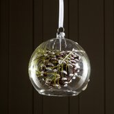 Snowdrift Dangling Glass Pinecone Ornament