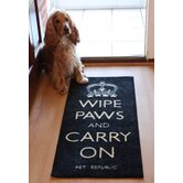 Wipe Paws And Carry On Door Mat