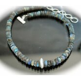 Sterling Silver Faceted Labradorite Necklace