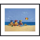 Three Ladies Sunning Metal Framed Art Print