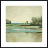 Spring on The Meadow Metal Framed Art Print