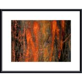 Peeling Paint Abstract Wood Framed Art Print