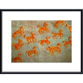 Nouveau Lascaux by John K. Nakata Metal Framed Art Print