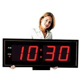 Giant 8&quot; Numbers LED Digital Clock with Remote