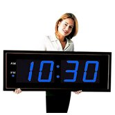 Giant 8&quot; Blue Numbers Digital Wall Clock