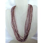 Multi Strand Glass Beaded Necklace