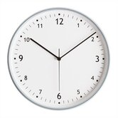 Round Wall Clock with Aluminum Finish Bezel