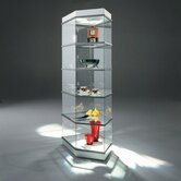 CrystalMint® Pentagon Modular Display Case and Lighting Set Kit
