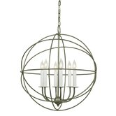 6 Light Globe Chandelier