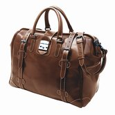 "Weekend Bags 19"" Leather Safari Travel Duffel"