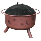 Twlight Stars and Moon Steel Fire Pit