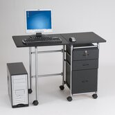 Fold-N-Stow Computer Workstation