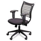 Seatflex Series Mid-Back Managerial Chair with Arms