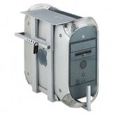 Lockable CPU Holder w/Two Combination Locks, 20w x 12-3/4d x 22-1/2h, Gray