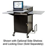 "Presentation Cart, w/CPU Holder, 18""x30""x47-1/2"", Gray/Black"