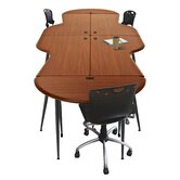 iFlex Modular Writing Desking Small Half Round Table