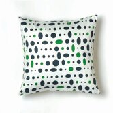 Cosmic Small Pillow in Navy, Green and White