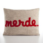 &quot;Merde&quot; Decorative Pillow