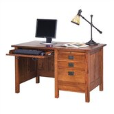 Craftsman Home Office 53.5&quot; W Single Pedestal Computer Desk