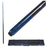 Marble Graphite Billiards Cue in Blue