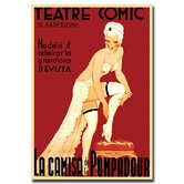 "Teatre Comic de Barcelona, Traditional Canvas Art - 24"" x 18"""