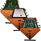 3 in 1 Rotating Table Game - Billiards, Air Hockey, Foosball