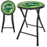 Bud Light Lime Cushioned Folding Stool in Black