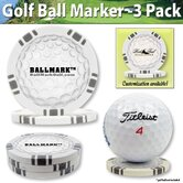 Ball Mark Poker Chip Golf Ball Marker Set of 9