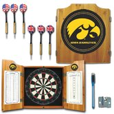 University of Iowa Dart Cabinet in Medium Wood