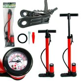 Hand Bicycle Pump with Built-in Pressure Gauge