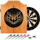 "24.75"" Pontiac Firebird Wood Dart Cabinet Set"