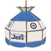 NHL Winnipeg Jets Stained Glass 1 Light Tiffany Lamp