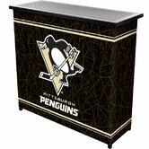 NHL Pittsburgh Penguins 2 Shelf Portable Bar with Case