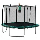 11' Square Trampoline with Safety Enclosure and Game