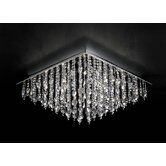 Ring Flush Ceiling Light with Crystal in Chrome