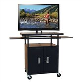 Flat Panel AV Cart with Locking Cabinet (Adjustable 34&quot;-52&quot; H)