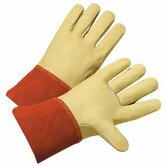 TIG/MIG Welding Gloves - grain cowhide leather palm (large)weldin