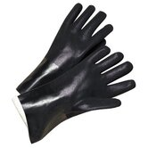 PVC Coated Gloves - 2434 14&quot; black pvc finish jersey lined
