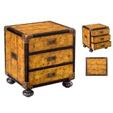 Campaign Style 3 Drawer Small Chest