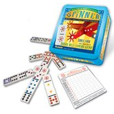 Double 9  Domino Game Set Plus Wild Spinner Tiles