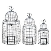 Victorian Style Bird Cage (Set of 3)