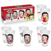 Betty Boop 4 Piece Pint Glass Set