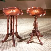 Plantation Cherry Oval Scatte End Table