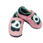 Panda Soft Sole Leather Baby Shoes