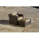 Resort Deep Seating Chair in Espresso Rattan