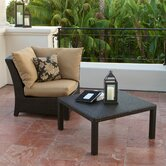 Delano Deep Seeting Corner Chair with Cushions and Coffee Table