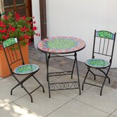 Viva Mexicana Orange Decorative 3 Piece Bistro Set